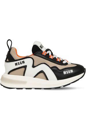 Msgm Sneakers In Pelle E Neoprene