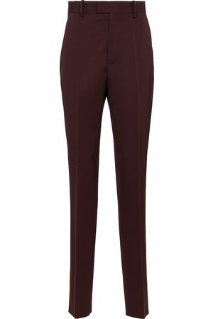 Bottega Veneta Donna Eleganti - Pantaloni a vita alta in lana