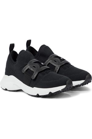 Tod's Sneakers Kate in maglia stretch e pelle