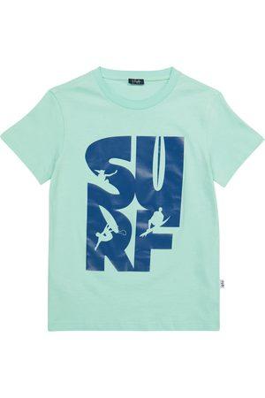 Il gufo T-shirt in cotone con stampa