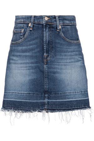 7 for all Mankind Minigonna di jeans a vita alta