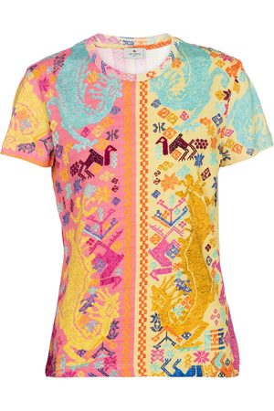 Etro T-shirt a stampa in cotone