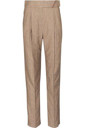 Brunello Cucinelli Pantaloni in lana e lino