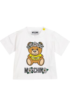 Moschino T-shirt - Baby - T-shirt in cotone stretch con logo