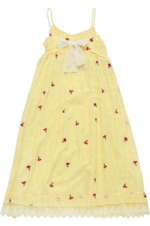 Chloé Vestito Lungo In Seta Con Ricami