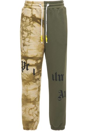 Palm Angels Uomo Joggers - Broken Logo Print Jersey Sweatpants