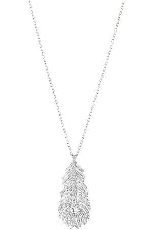 Boucheron Donna Collane - Collana con pendente Plume de Paon in oro bianco 18kt con diamanti
