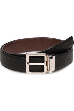 Prada Cintura con fibbia reversibile