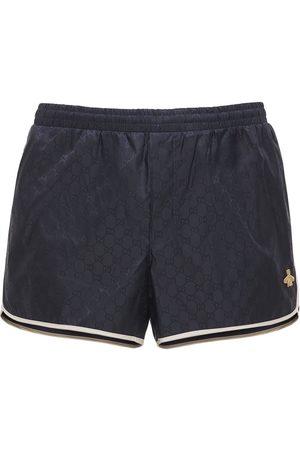 Gucci Shorts Mare In Nylon Gg Con Patch