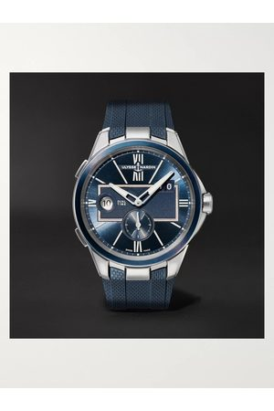 Ulysse Nardin Uomo Orologi - Dual Time Automatic 42mm Stainless Steel and Rubber Watch, Ref. No. 243-20-3/43