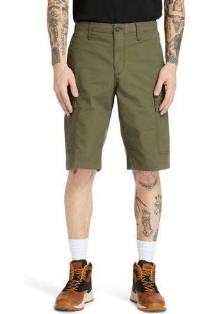 Timberland Shorts Cargo Da Uomo In Popeline In Scuro Scuro
