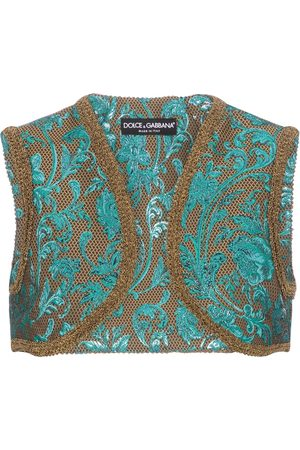 Dolce & Gabbana Gilet cropped in broccato