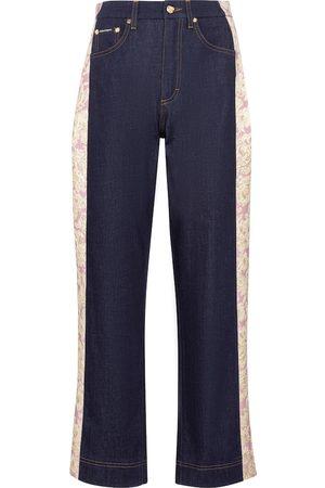 Dolce & Gabbana Jeans regular a vita alta con broccato