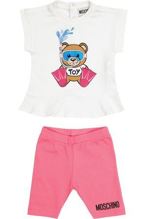 Moschino Baby - T-shirt e pantaloni in cotone stretch