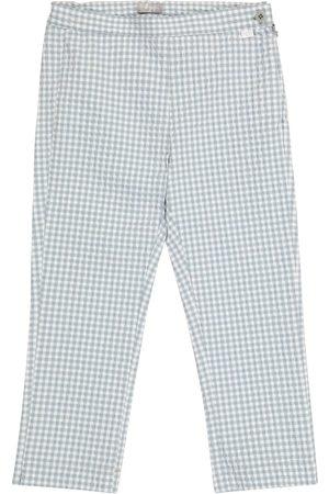 Il gufo Bambina Pantaloni - Pantaloni a quadretti in misto cotone