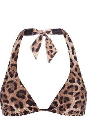 Dolce & Gabbana Top bikini a stampa leopardata