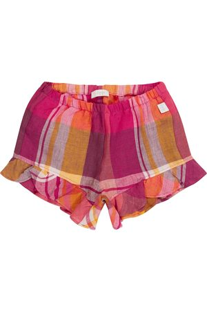 Il gufo Baby - Shorts a quadri in lino
