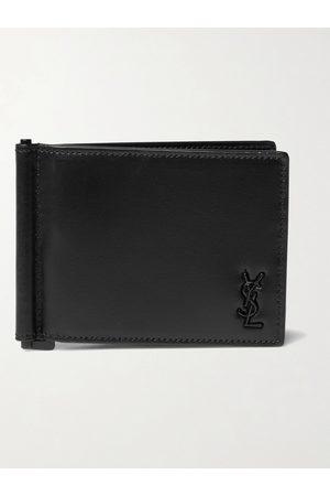 adidas Uomo Portafogli e portamonete - Logo-Appliquéd Leather Wallet with Money Clip