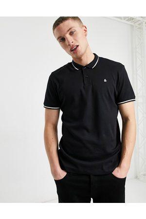 Jack & Jones Essentials - Polo in jersey nera