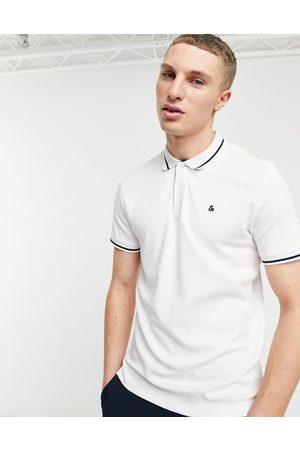 Jack & Jones Essentials - Polo in jersey bianca