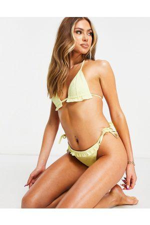 ASOS Mix and Match - Top bikini a triangolo in pizzo con volant