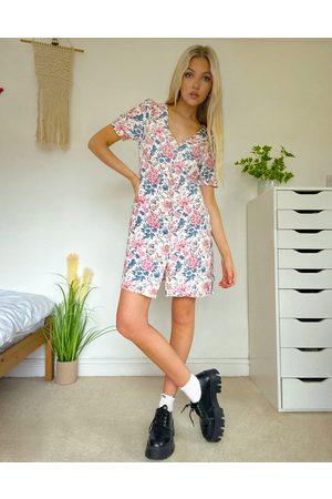 Oasis Vestito a fiori con bottoni