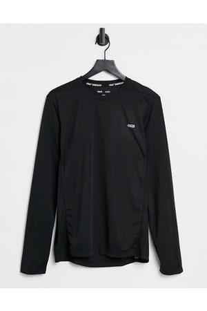 ASOS Maglietta da allenamento a maniche lunghe quick dry nera con logo