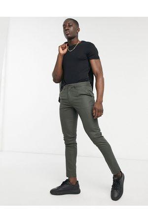 ASOS Pantaloni da abito skinny bosco