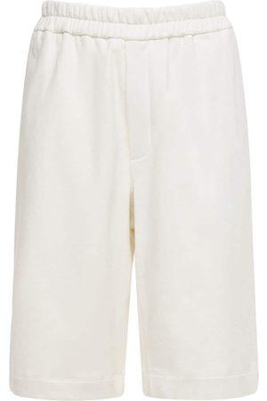 Jil Sander Shorts In Cotone Organico Con Ricamo