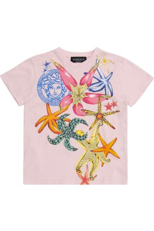 VERSACE T-shirt a stampa in cotone
