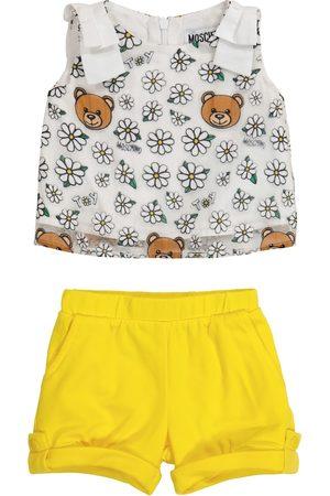 Moschino Baby - Top e shorts in cotone