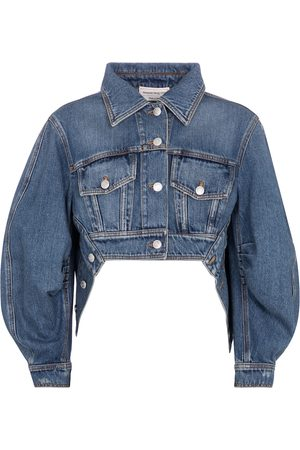 Alexander McQueen Giacca di jeans cropped
