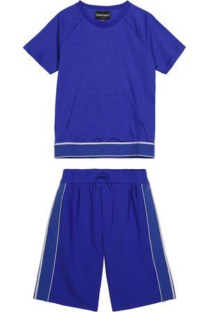 Emporio Armani T-shirt e shorts in cotone stretch