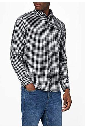 MERAKI Marchio Amazon - Camicia in Cotone a Manica Lunga Uomo, , XL, Label: XL