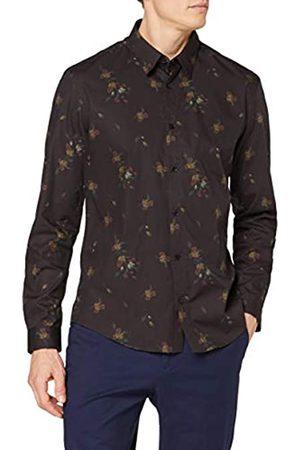 FIND Marchio Amazon - Camicia Elegante con Stampa Floreale Uomo, , 41 cm, Label: XL