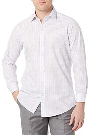 """Buttoned Down Uomo Casual - Tailored Fit Button-collar Pattern Non-iron Dress Shirt Camicia, , 18"""" Neck 36"""" Sleeve"""