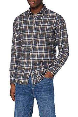 MERAKI Marchio Amazon - Camicia in Cotone a Manica Lunga Uomo, , 3XL, Label: 3XL