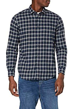 MERAKI Marchio Amazon - Camicia in Cotone a Manica Lunga Uomo, , M, Label: M