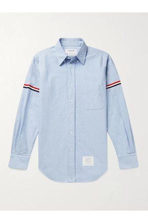 Thom Browne Uomo Casual - Button-Down Collar Grosgrain-Trimmed Cotton-Oxford Shirt