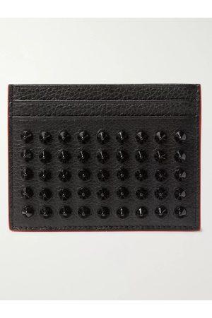 Christian Louboutin Studded Full-Grain Leather Cardholder
