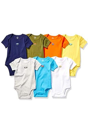 Amazon 7-Pack Short-Sleeve Bodysuits Infant-And-Toddler-Suits, Days of The Week-Vehicles, 0-3M
