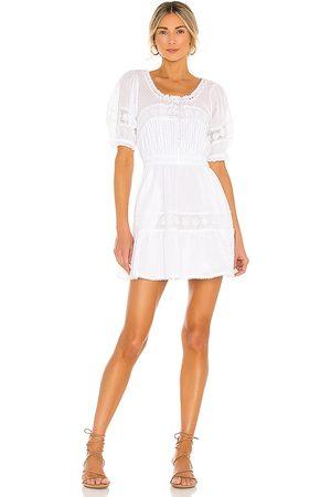 LOVESHACKFANCY Britta Dress in - White. Size L (also in M, S, XS).