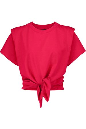 Isabel Marant T-shirt cropped Zelito in cotone