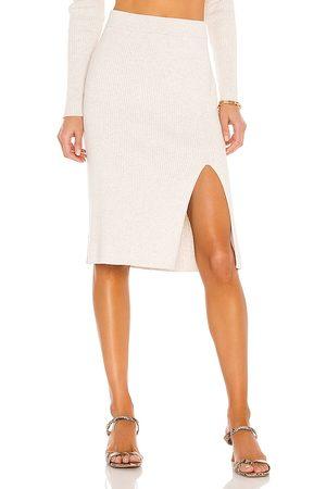 Bobi Donna Maglioni - BLACK Fine Cotton Sweater Skirt in - Ivory. Size L (also in M, S, XS).