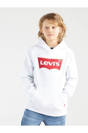 Levi's Bambino Hoodies - Teenager Batwing Screenprint Hoodie / White
