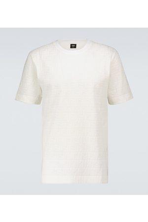 Fendi T-shirt in piqué di cotone