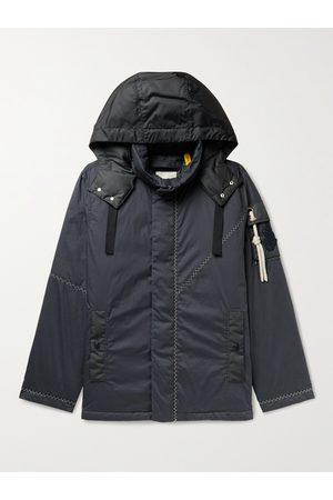 Moncler Genius 1 Moncler JW Anderson Logo-Appliquéd Shell-Trimmed Cotton Down Hooded Jacket