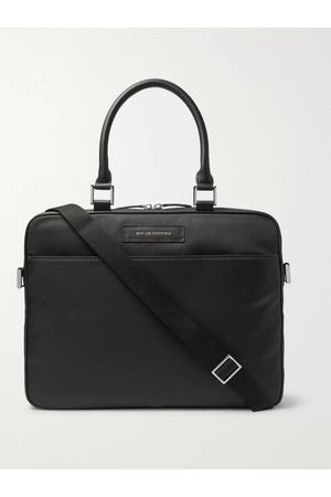 WANT LES ESSENTIELS Haneda Leather-Trimmed Nylon Briefcase