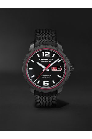 Chopard Mille Miglia GTS Speedblack Automatic Speed Limited Edition 43mm DLC-Coated Stainless Steel and Rubber Watch, Ref. No. 168565-3002