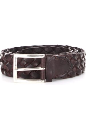 Gavazzeni Uomo Cinture - WOVEN NORVEGIA LEATHER BELT NERO01